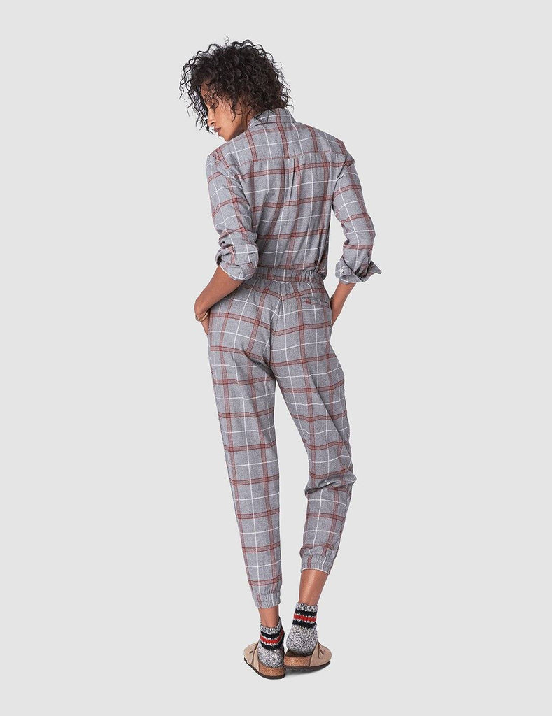 Joplin Jogger - Charcoal Spice Plaid