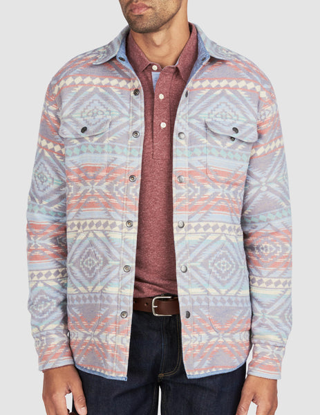 Reversible Bondi Jacket - Light Wash/Aleutian Coast