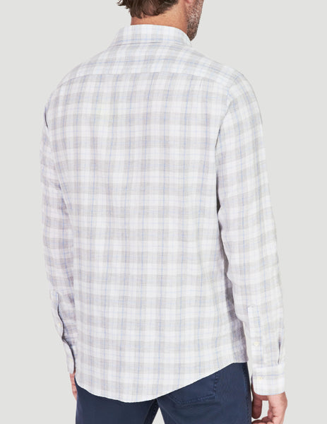 Ventura Shirt - Cream Grey Plaid
