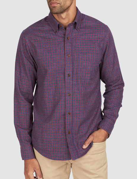 Doublecloth Pacific Shirt - Wine Shadow Check