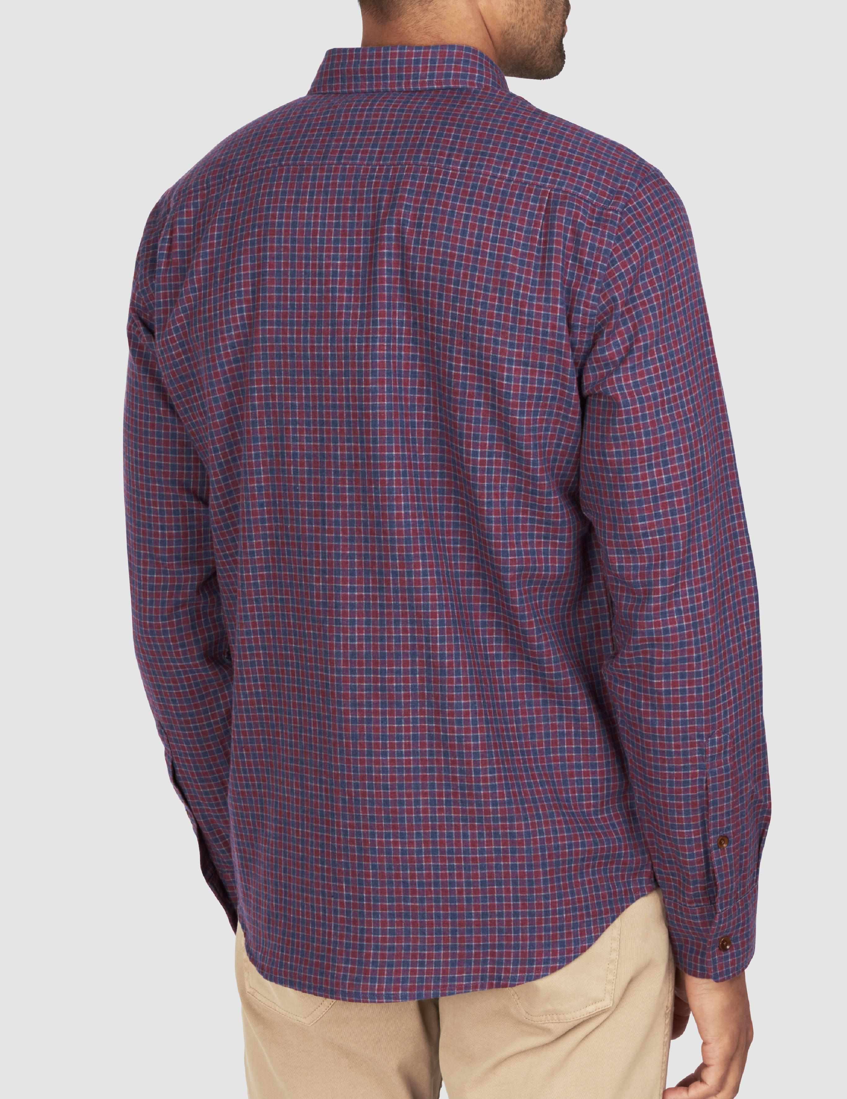 Doublecloth Shirt - Wine Shadow Check