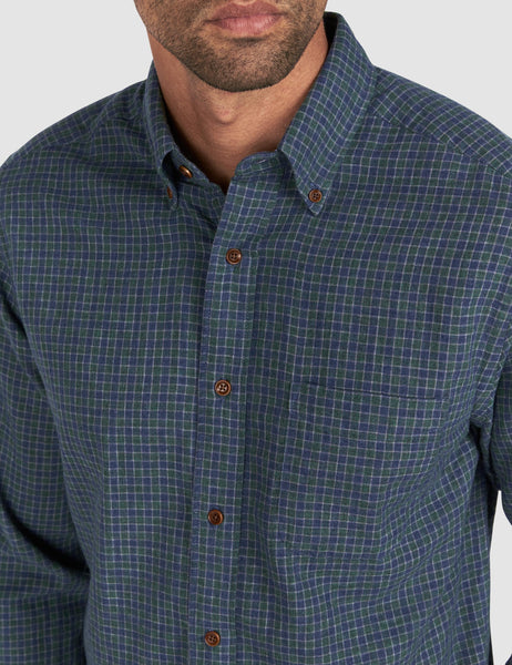 Doublecloth Pacific Shirt - Hunter Shadow Check