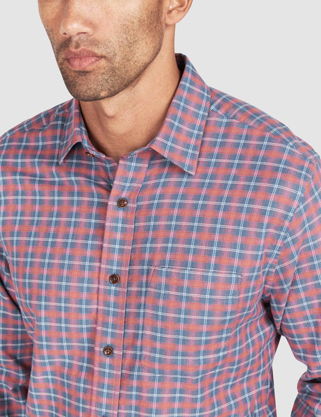 Ventura Shirt - Dusty Red Blue