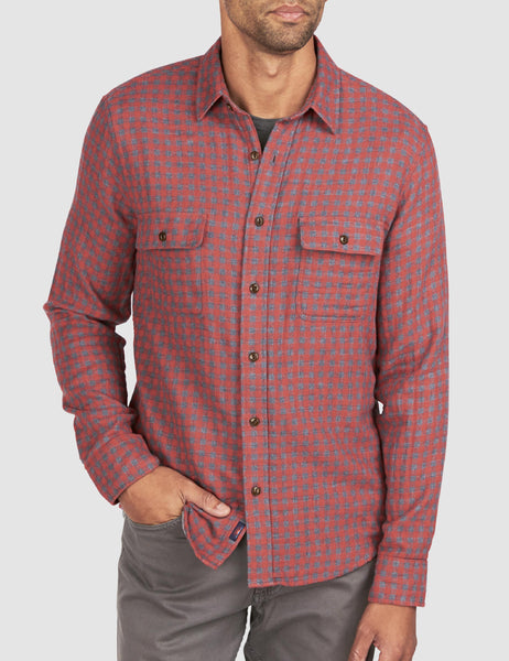 Doublecloth Belmar Shirt - Red Charcoal Buffalo