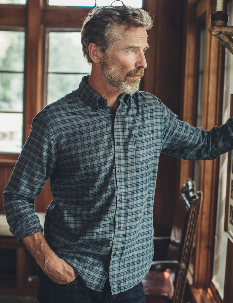 Pacific Shirt - Charcoal Heather Easy Check