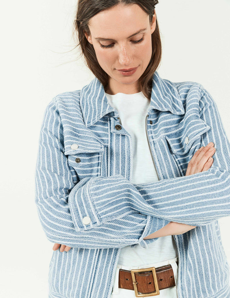 Rowan Jacket - Indigo/White Stripe