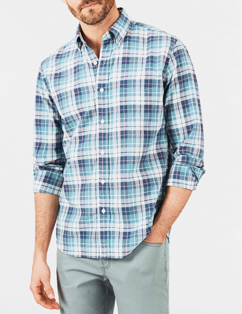 Everyday Button-Down Shirt - Blue Madras