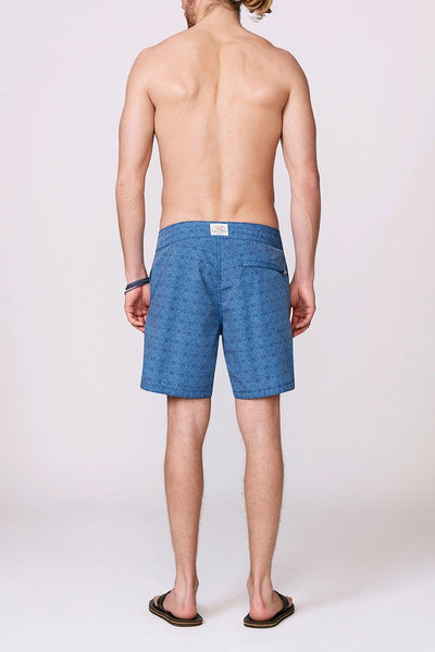 Classic Boardshort (7 Inch Inseam) - Ocean Breeze Tribal Blue