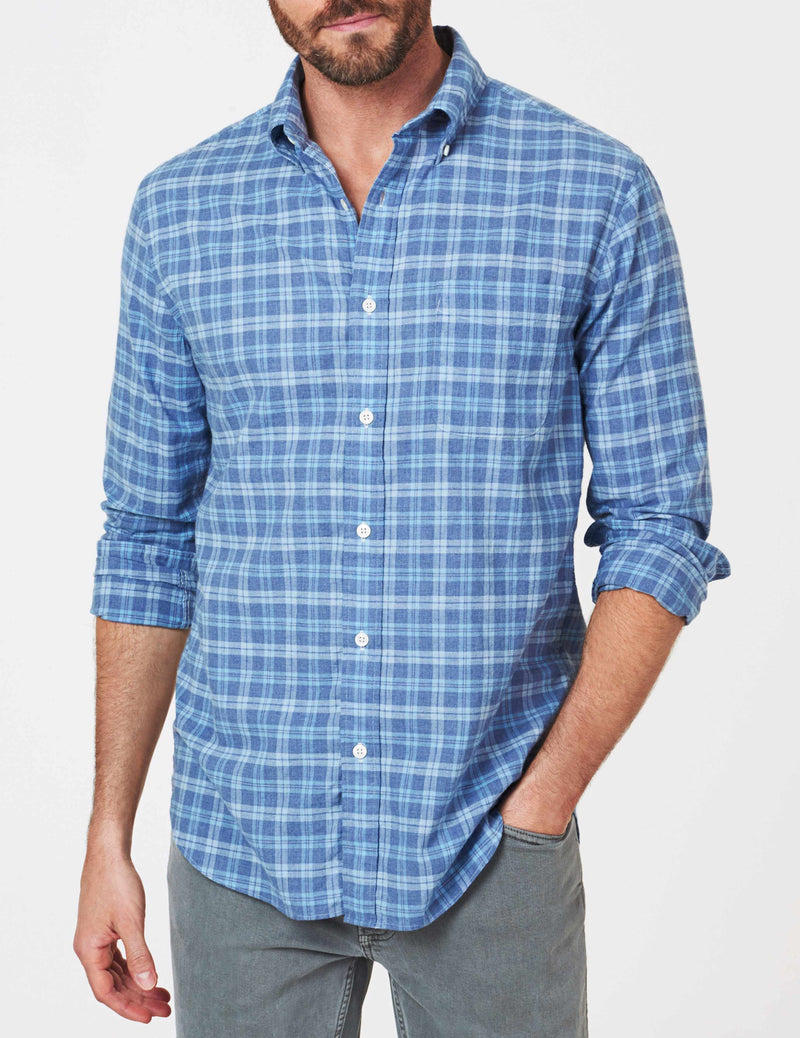 Everyday Button-Down Shirt - Melange Blue Multi