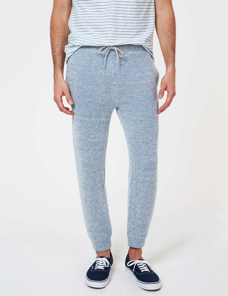 Backloop Jacquard Joggers - Whitewater