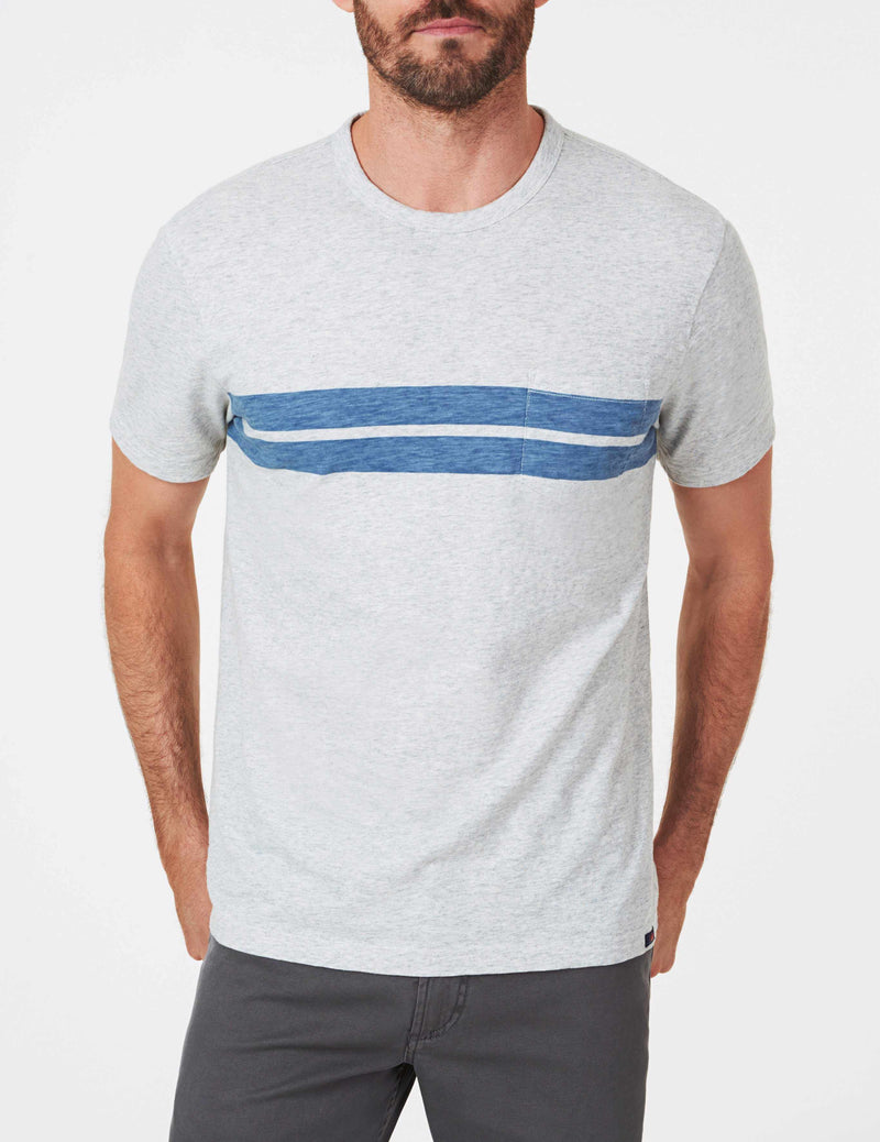 Twin Stripe Pocket Tee - Athletic Grey