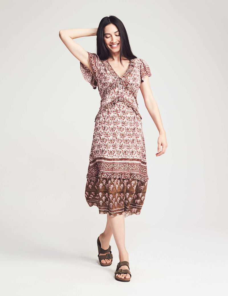 Bonita Dress - Apple Baum Red
