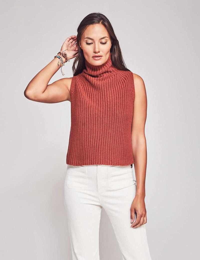 Joni Sleeveless Sweater - Red