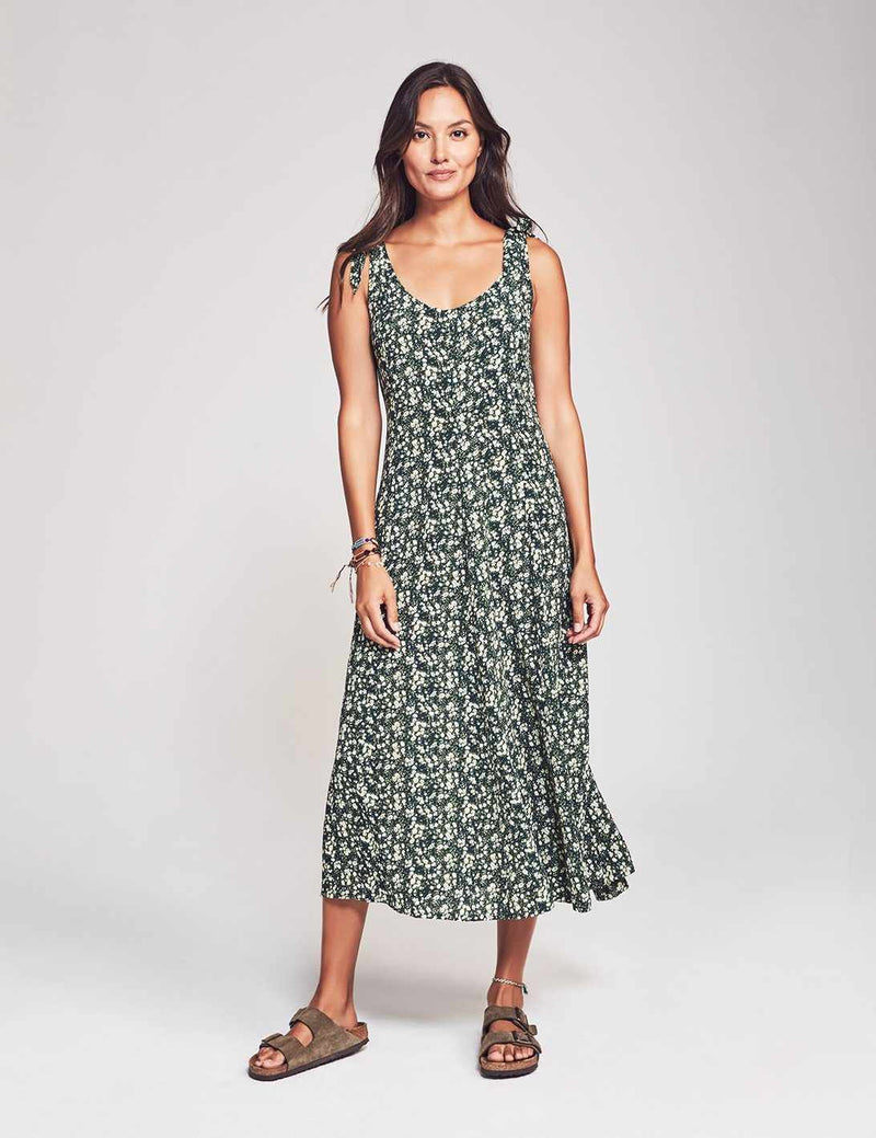 Madeira Dress - Green Cobain