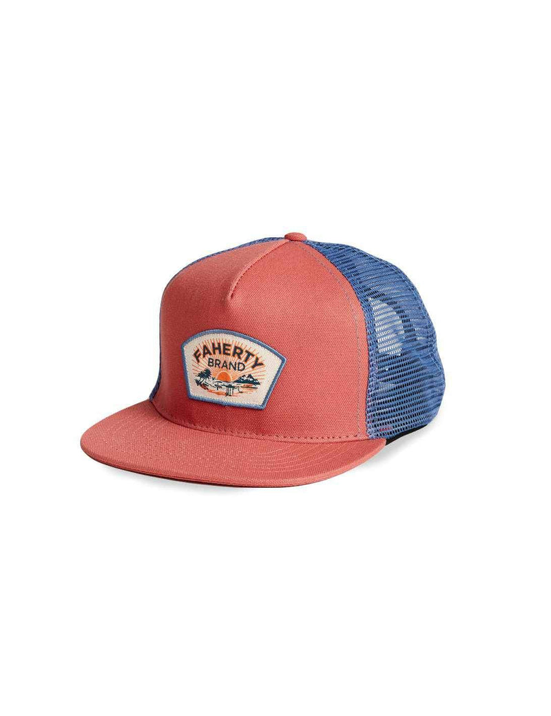 5-Panel Trucker - Nautical Red/Postal Blue