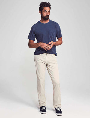 "Comfort Twill 5-Pocket 34"" Inseam - Stone"