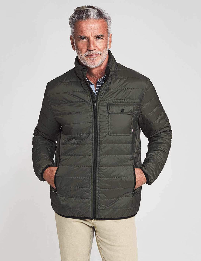 Atmosphere Packable Zip Jacket - Olive