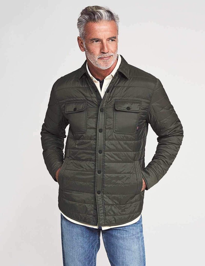 Atmosphere Packable Shirt Jacket - Olive