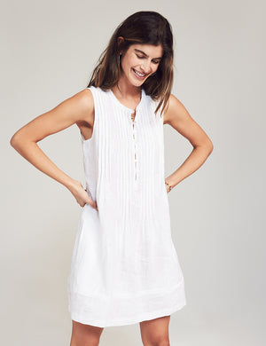 Isha Embroidered Dress - White Pineapple