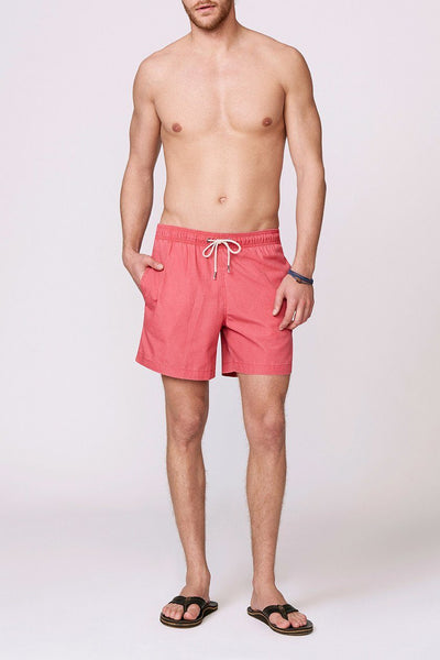 solid red men's swimsuit