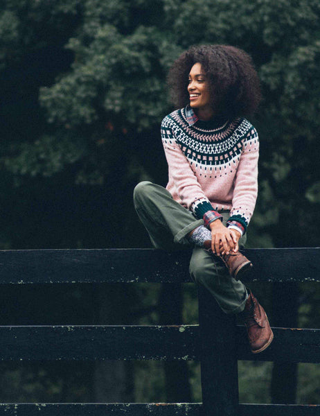 Bethna Fair Isle Sweater - Bayberry Multi