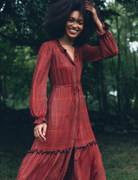 Sandia Dress - Red/Black Gingham