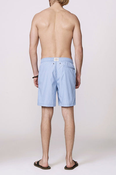 light blue men's swimsuit back
