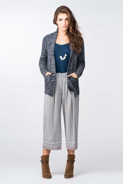 Kerry Printed Silk Culottes