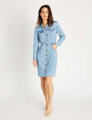 Etica x Faherty Jordyn Dress - Ice Blue Indigo