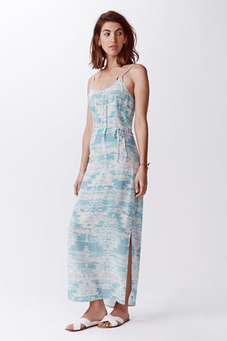 Beacon Silk Maxi Dress -  Sea Glass