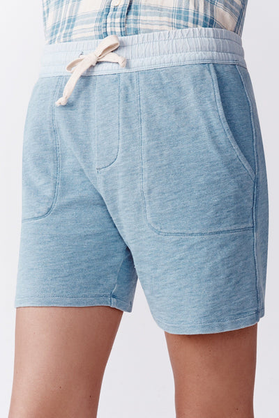 Indigo Slub Sweatshort -  Light Indigo