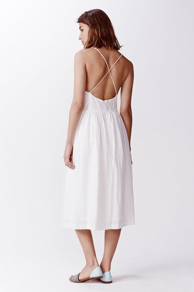 Inda Lace Midi Dress - White