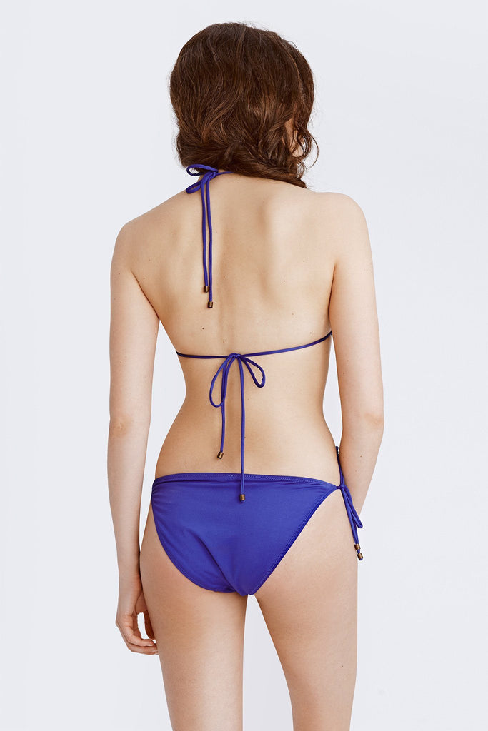 String Bikini Top - Royal Purple