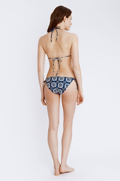 String Bikini Bottom - Tamil Wood Block