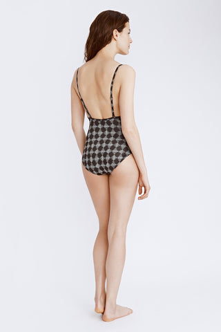 Cami Top One Piece - Graphic Weave