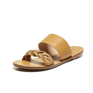 Soludos Braided Slide Sandal - Acorn Brown