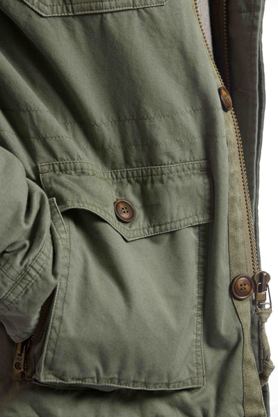 olive green mens utility jacket pocket