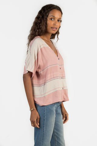 Analeigh Top - Rosewood Multi Stripe