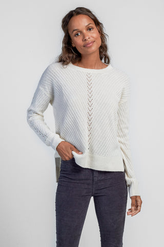 Santos Cashmere Sweater - Pearl