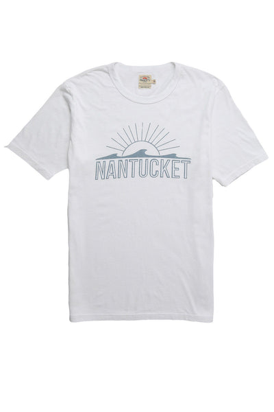 Faherty x Goodlife Beach Tee - White Nantucket
