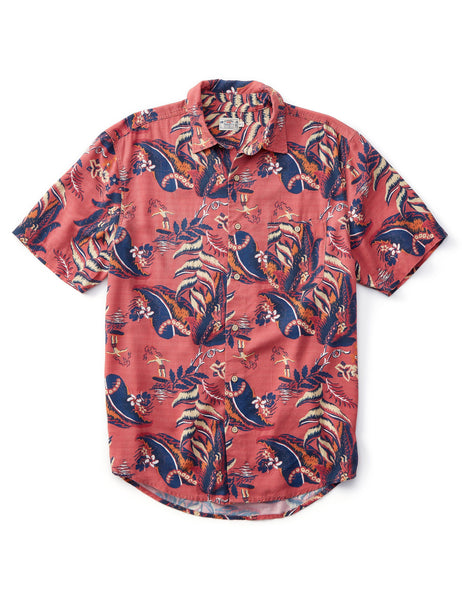RAYON HAWAIIAN SHIRT - Sunset Leaf Hawaiian