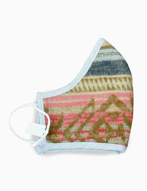 Faherty Organic Cotton Jacquard Mask - Neskowin