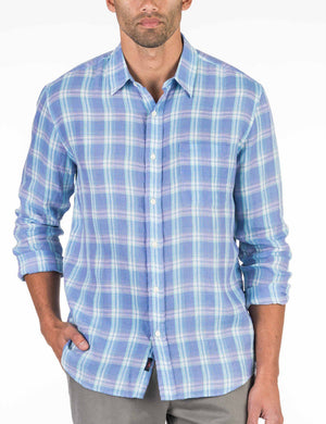 Cloud Summer Blend Shirt - Purple Plaid