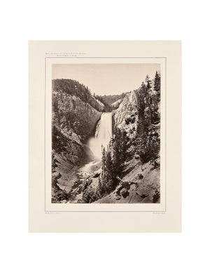 Muir Way - Lower Falls of the Yellowstone, Near View, Yellowstone 1873