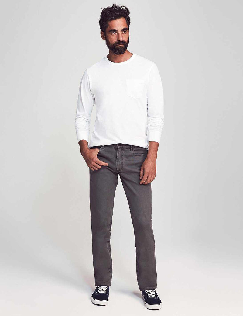 "Comfort Twill 5-Pocket 34"" Inseam - Rugged Grey"