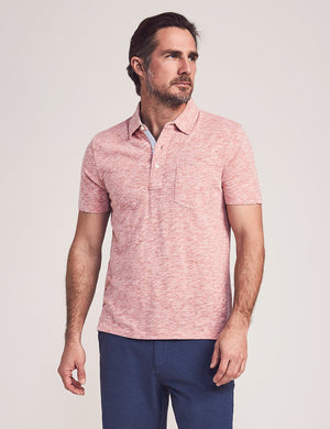 Short-Sleeve Heather Polo - Venice Red