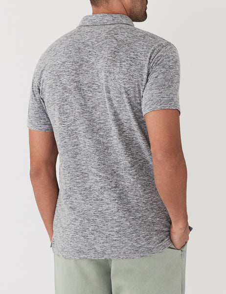 Spring Heather Polo  - Charcoal