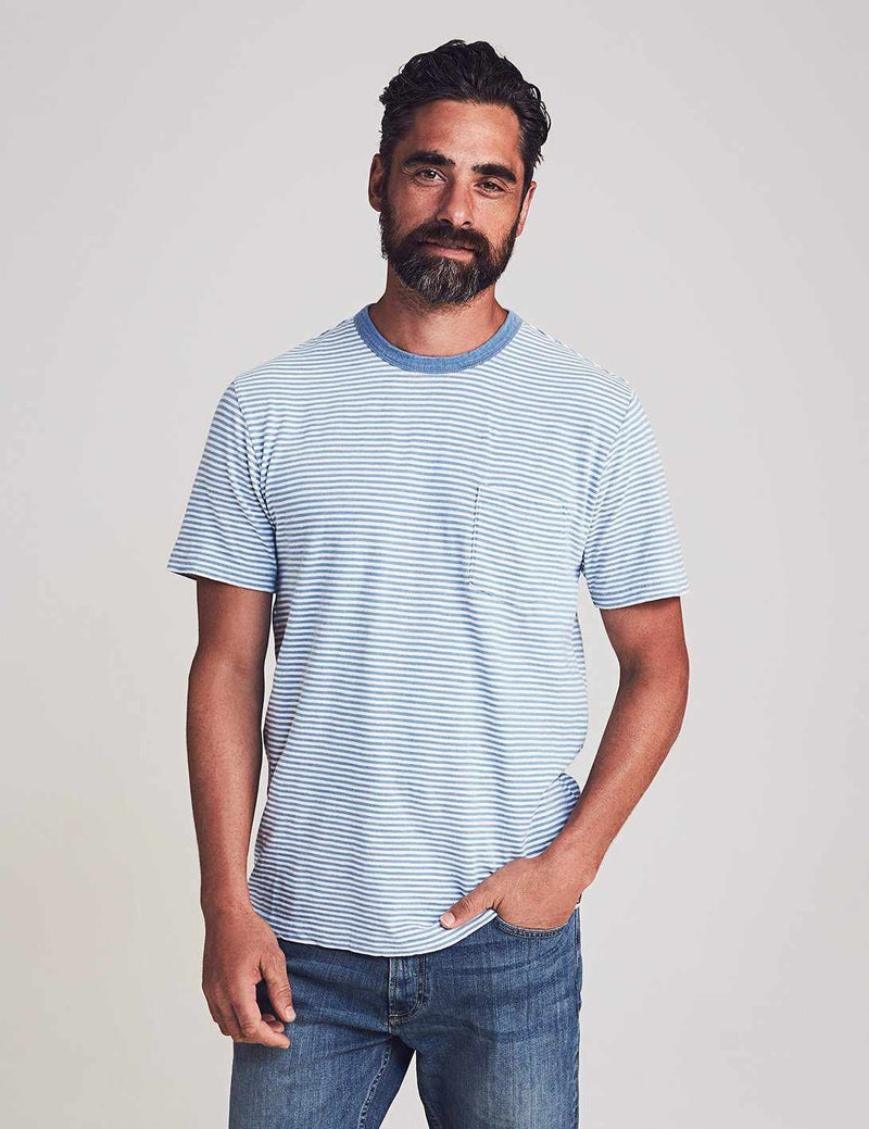 Indigo Pocket Tee - Salt Wash