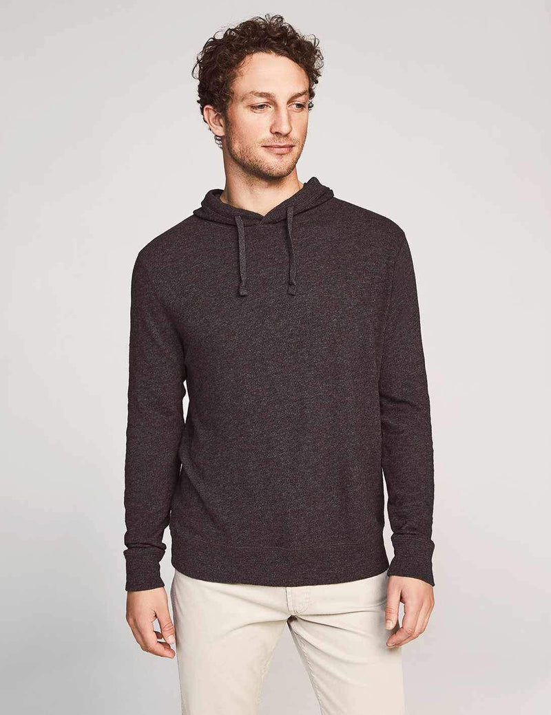 Slub Cotton Hoodie - Black Heather
