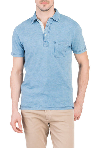 Indigo Polo - Light Wash Indigo